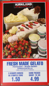 Costco Fresh Made Gelato Menu Item