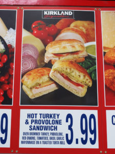Costco Hot Turkey and Provolone Sandwich Menu Item