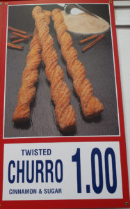 Costco Twisted Churro Menu Item