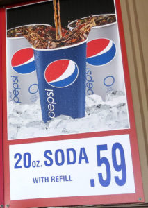 Costco 20 oz Soda Menu Item