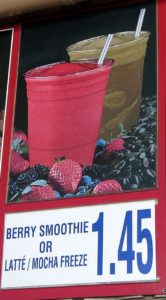 Costco Berry Smoothie or Latte Mocha Freeze Menu Item