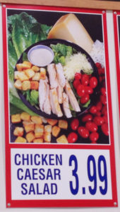 Costco Chicken Caesar Salad Menu Item