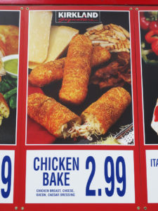 Costco Chicken Bake Menu Item